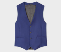 A Suit To Travel In - Tailored-Fit Indigo Wool Waistcoat