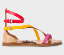 Multi-Coloured Vachetta Leather 'Margie' Sandals