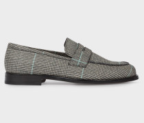 Black And White Check 'Wolf' Loafers