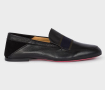 Black Leather 'Freda' Loafers