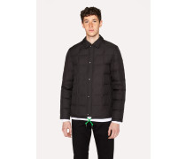 Black Down-Filled Ripstop Coach Jacket