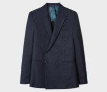 The Kensington - Slim-Fit Navy Buggy-Lined Double-Breasted Wool Blazer