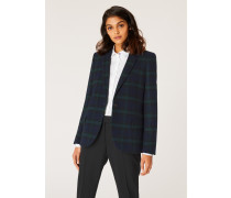 Blackwatch Tartan Wool-Blend Blazer