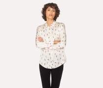 Cream 'Painted Daisy' Print Shirt
