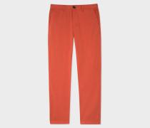 Tapered-Fit Burnt Orange Stretch Pima-Cotton Chinos