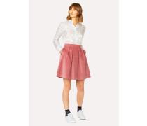 Dusky Pink Corduroy Stretch-Cotton Skirt
