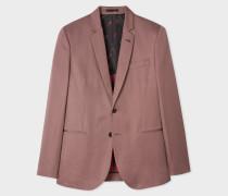 Mid-Fit Mauve Buggy-Lined Cotton-Linen Blazer