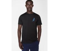 Black 'Dino' Print Cotton T-Shirt
