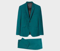 The Kensington - Slim-Fit Teal Wool Suit 'A Suit To Travel In'