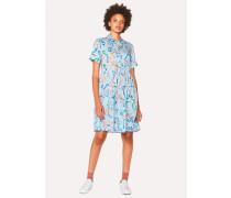 Light Blue 'Acapulco' Print Shirt Dress