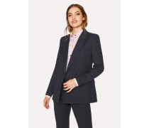 A Suit To Travel In -  Dark Navy Wool Double-Breasted Blazer
