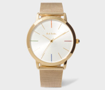 White And Gold 'Ma' Watch