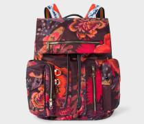 'Ocean' Print Micro-Ripstop Backpack