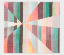 Shattered 'Artist Stripe' Print Silk-Blend Pocket Square