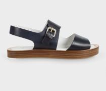 Black Leather 'Ilse' Sandals