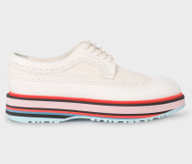 Off-White Leather 'Grand' Brogues With Striped Soles