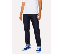 Tapered-Fit 14oz 'Organic Pepper N Salt' Indigo Denim Jeans