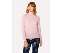 Light Pink Wool Roll-Neck Sweater