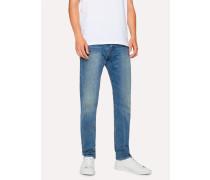 Slim-Standard Antique-Wash 12.5oz 'Rigid Western Twill' Denim Jeans