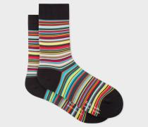 Multi-Coloured 'Signature Stripe' Cycling Socks