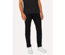 Slim-Fit 12oz 'Super Black' Stretch-Denim Jeans