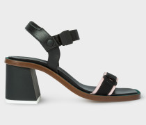 Black Leather 'Yola' Sandals