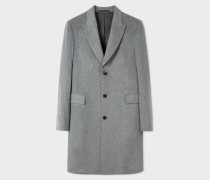 Light Grey Wool And Cashmere-Blend Peak-Lapel Epsom Coat