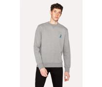 Grey Cotton Embroidered 'Dino' Sweatshirt
