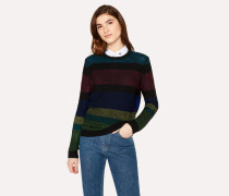 Wool And Alpaca-Blend 'Cycle Stripe' Reversible Sweater