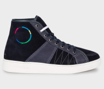 Navy Suede 'Nicos' Trainers