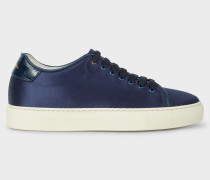 Dark Navy Satin 'Basso' Trainers
