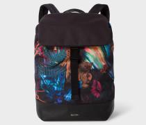 'Explorer' Print Flap Backpack
