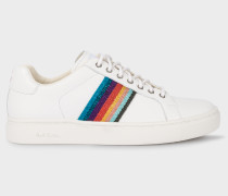 White 'Artist Stripe' Leather 'Lapin' Trainers