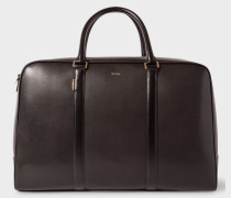 Black 'New City' Leather Holdall