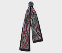 Geometric 'Swirl' Print Silk Scarf