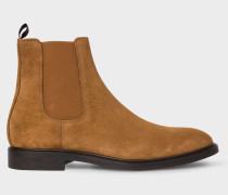 Tan Suede 'Jake' Chelsea Boots