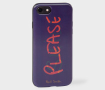 Violet 'Smile Please' Lenticular iPhone 7 Case