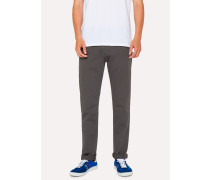 Tapered-Fit Grey Garment-Dye Jeans