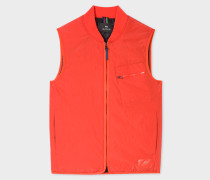 Red Quilted 2-In-1 Gilet Liner