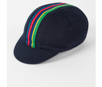 Navy 'Cycle Stripe' Cycling Cap