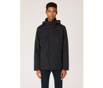 Black Cotton-Blend Field Jacket