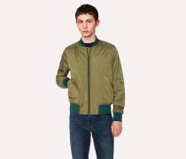 Green Lightweight Micro-Ripstop Bomber Jacket