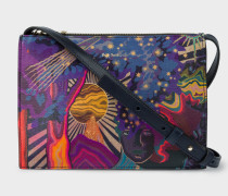 Concertina 'Dreamer' Print Leather Cross-Body Bag