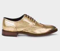 Gold Leather 'Munro' Flexible Travel Brogues