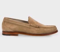 Beige Suede 'Raymond' Loafers