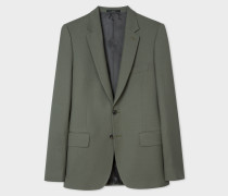 Tailored-Fit Olive Green Wool 'A Suit To Travel In' Blazer