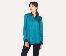 Turquoise 'Daisy Polka' Print Shirt