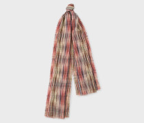 'Crossover Stripe' Double-Sided Wool Scarf