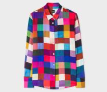 'Colour-Block Check' Shirt