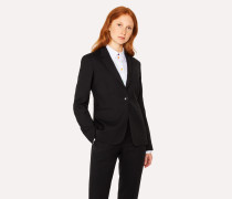 A Suit To Travel In -  Black One-Button Wool Blazer